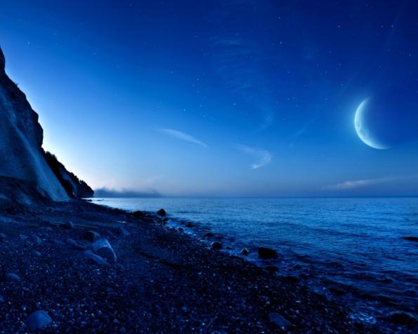 Obrázek na plochu v rozlišení 1280 x 1024 - Překrásná noc na pláži