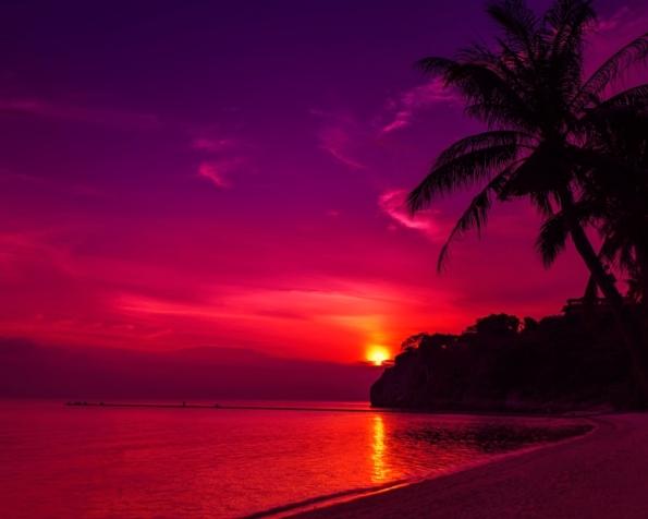 Obrázek na plochu v rozlišení 1280 x 1024 - Západ slunce v Thajsku