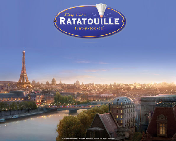 Volba: tapeta v rozlišení 1280 x 1024 - Paříž v Ratatouille