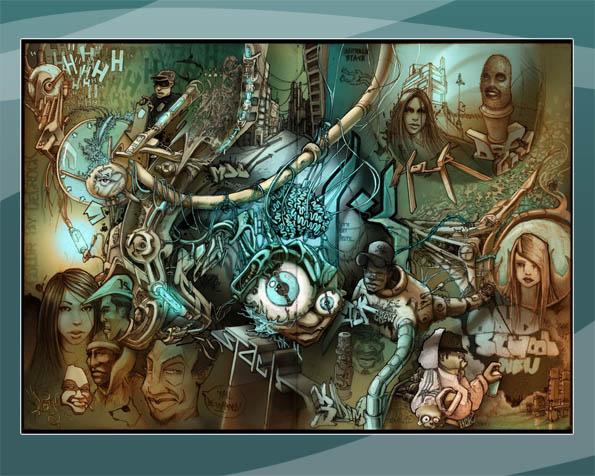 Volba: tapeta v rozlišení 1280 x 1024 - Kreslený svět grafity