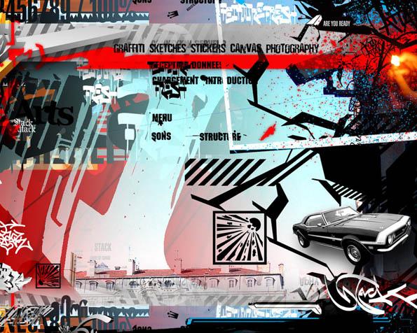 Volba: tapeta v rozlišení 1280 x 1024 - Grafity menu styl