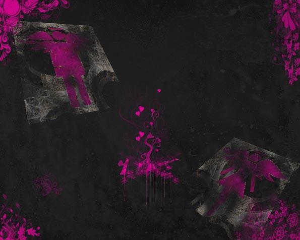 Obrázek na plochu v rozlišení 1280 x 1024 - EMO tapeta s andělem