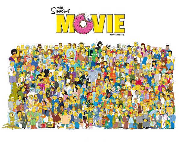Obrázek na plochu v rozlišení 1280 x 1024 - Simpsonovi ve filmu