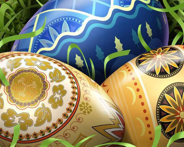 Obrázek na plochu v rozlišení 1280 x 1024 - Veselé velikonoce 2012