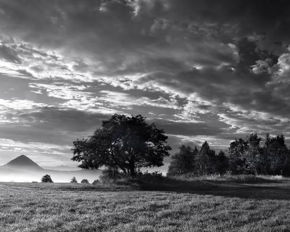 Obrázek na plochu v rozlišení 1280 x 1024 - Krajina v černobílých barvách