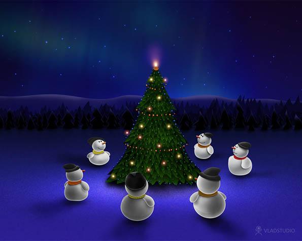 Obrázek na plochu v rozlišení 1280 x 1024 - Čekání na vánoční zázrak