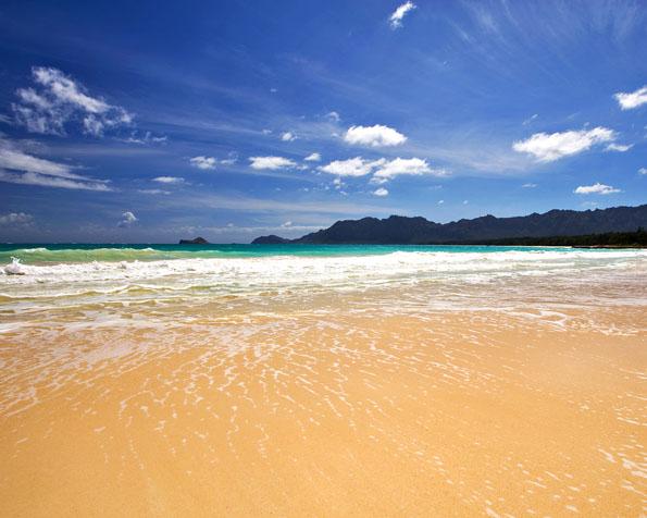 Obrázek na plochu v rozlišení 1280 x 1024 - Jedna z mnoha pláží na Oahu