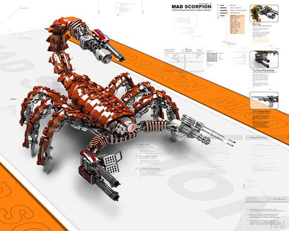 Obrázek na plochu v rozlišení 1280 x 1024 - Šílený škorpión