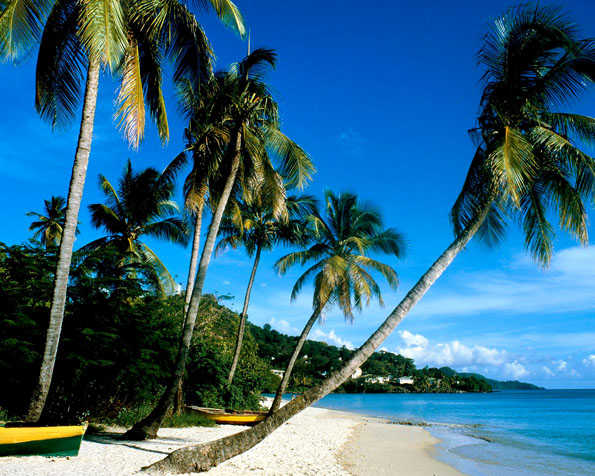 Obrázek na plochu v rozlišení 1280 x 1024 - Pláž Grand Anse Grenada
