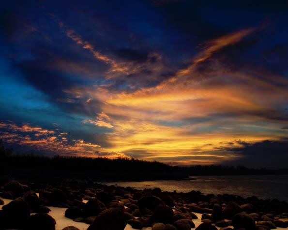Obrázek na plochu v rozlišení 1280 x 1024 - Pestrobarevný západ slunce