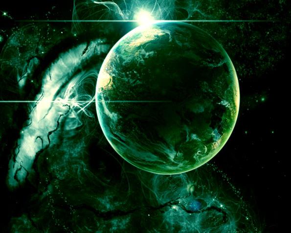 Obr�zek na plochu v rozli�en� 1280 x 1024 - Zelen� ��st vesm�ru