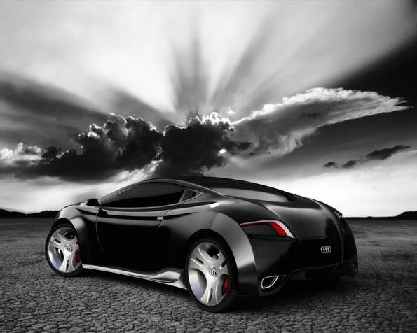 Obrázek na plochu v rozlišení 1280 x 1024 - Audi koncept černé