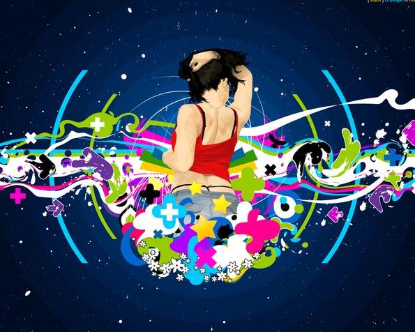 Obrázek na plochu v rozlišení 1280 x 1024 - Party girl