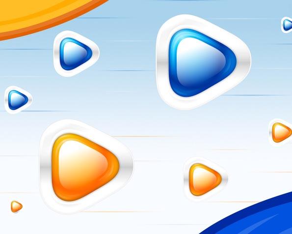 Obrázek na plochu v rozlišení 1280 x 1024 - Triangly