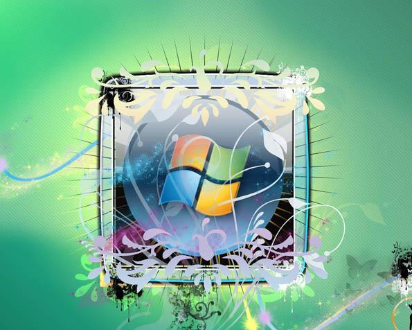 Volba: tapeta v rozlišení 1280 x 1024 - Abstraktní logo Windows