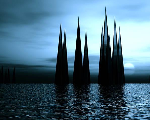 Volba: tapeta v rozlišení 1280 x 1024 - Černé vodní krystaly
