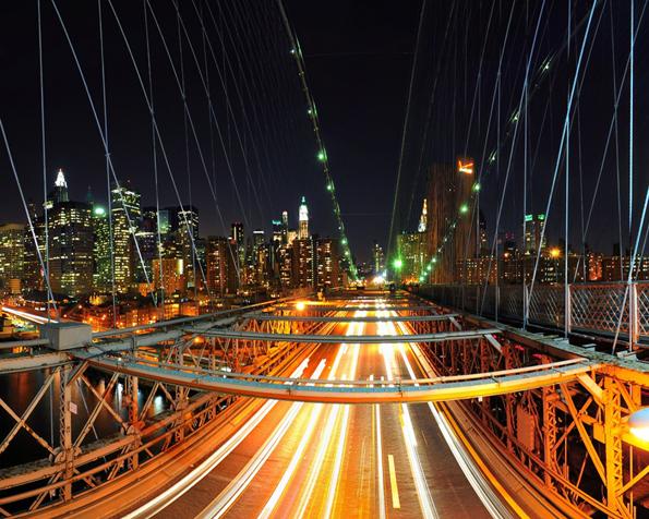 Obrázek na plochu v rozlišení 1280 x 1024 - Město New York v noci