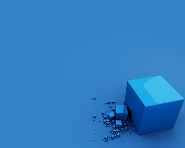 Obr�zek na plochu v rozli�en� 1280 x 1024 - Modr� krychle v zaj�mav� abstrakci