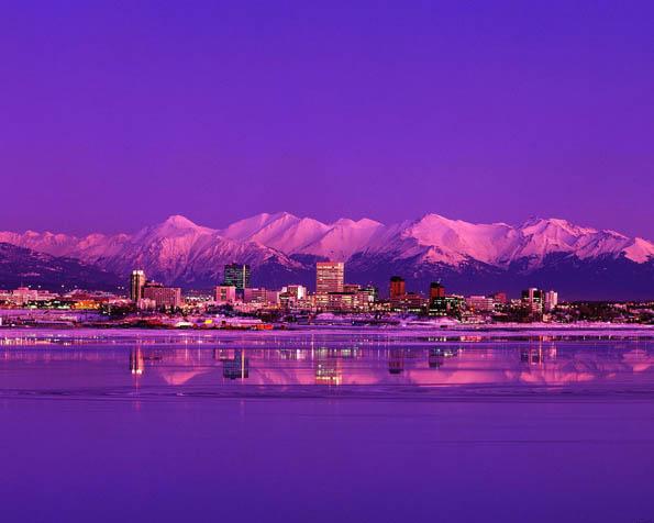 Obrázek na plochu v rozlišení 1280 x 1024 - Anchorage Aljaška