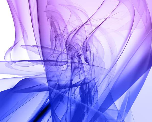 Obrázek na plochu v rozlišení 1280 x 1024 - Modrofialová kouřová abstrakce