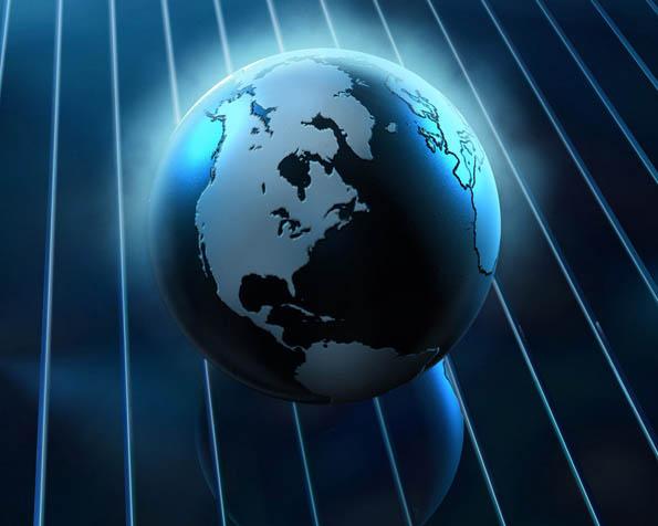 Volba: tapeta v rozlišení 1280 x 1024 - Planeta Země v abstraktním světě