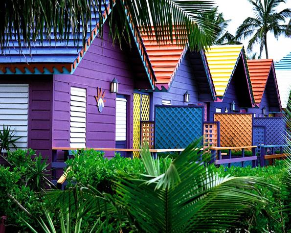 Obr�zek na plochu v rozli�en� 1280 x 1024 - Pestrobarevn� domky na Baham�ch