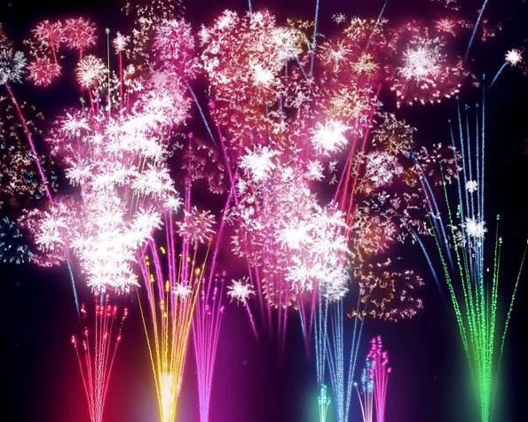 Obrázek na plochu v rozlišení 1280 x 1024 - Pestrobarevný Nový rok