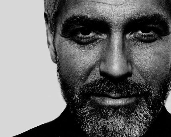 Obrázek na plochu v rozlišení 1280 x 1024 - George Clooney zarostlý