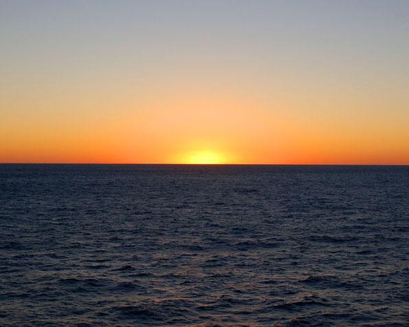 Volba: tapeta v rozlišení 1280 x 1024 - Západ slunce v mexickém zálivu