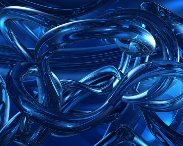 Volba: tapeta v rozlišení 1280 x 1024 - Modře zbarvený chaos