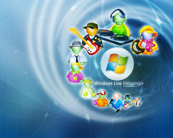 Obrázek na plochu v rozlišení 1280 x 1024 - Ikonky Windows messenger
