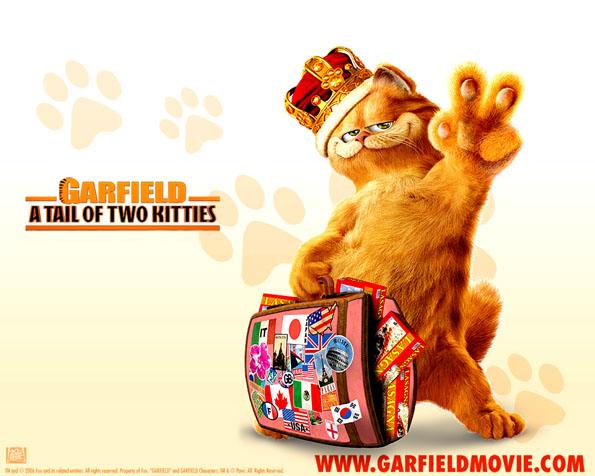 Obrázek na plochu v rozlišení 1280 x 1024 - Garfield a královská koruna