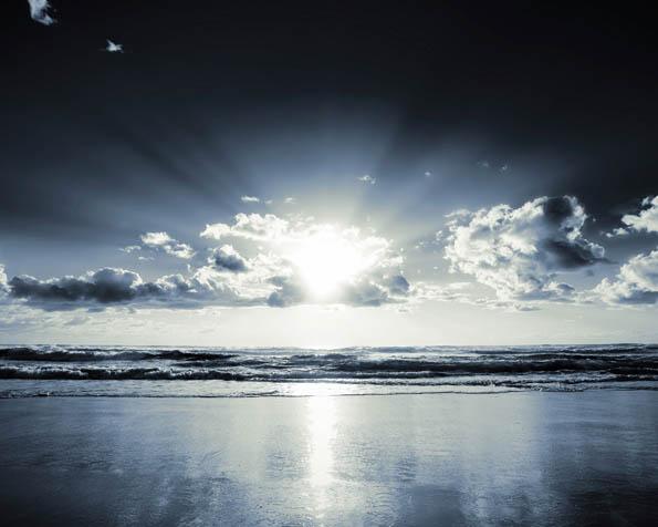 Obrázek na plochu v rozlišení 1280 x 1024 - Stříbrný východ slunce