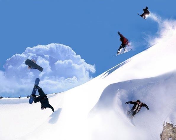 Volba: tapeta v rozlišení 1280 x 1024 - Snowboarders