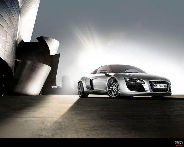 Obrázek na plochu v rozlišení 1280 x 1024 - Audi R8 boční pohled
