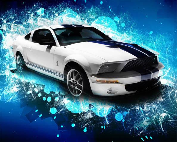 Obrázek na plochu v rozlišení 1280 x 1024 - Ford GT 500